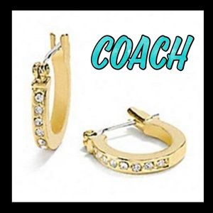 🎁GIFT ALERT🎁COACH pave signature earrings